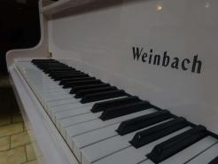 Piano quart queue d'occasion WEINBACH 170 Blanc brillant
