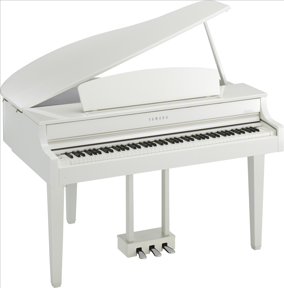 Piano à queue YAMAHA CLP665 en blanc brillant
