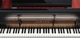Vrai mecanique de piano à queue