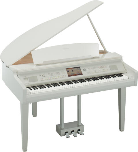 Piano à queue YAMAHA CLP-709 Pwh blanc brillant