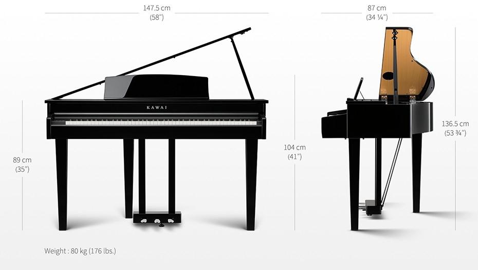 piano numérique à queue KAWAI DG-30