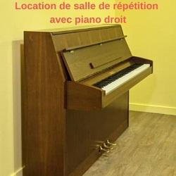 Location de salle de répétition avec piano